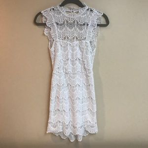 Free People White Lace Dress Size XS